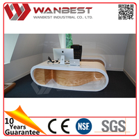 Customized White Solid Surface Office Furniture Desk Table