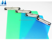 New products custom color metal clip A4 size plastic paper clipboard folder