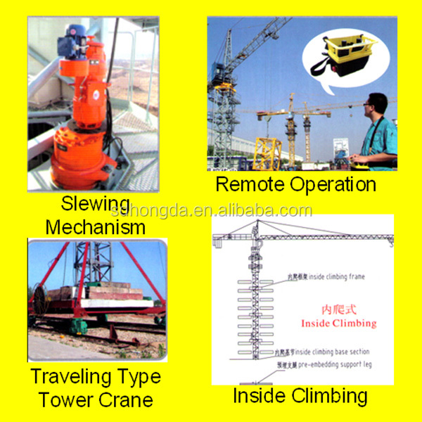 Hot Selling Professional 5T-6T construction tower crane