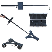 Samples available 2m telescopic pole under vehicle double CCTV inspection camera 7 inch LCD screen DVR monitor kit