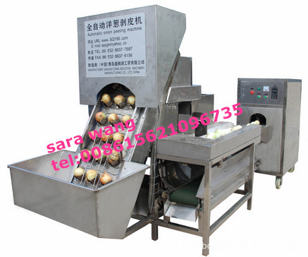 Factory Supply Stainless Steel automatic Onion Peeling Machine/onion cut tuber machine