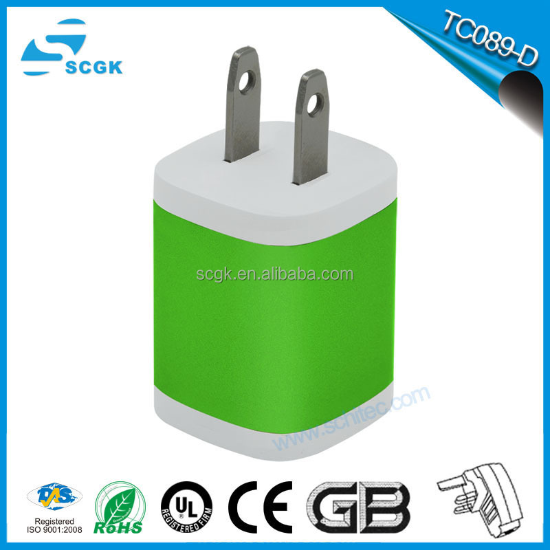 High power charger AC 5V 2A portable USB wall charger for ipad charger