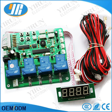 4 digits second coin operated timer board for 1-4 devices machines, time control pcb with all wires