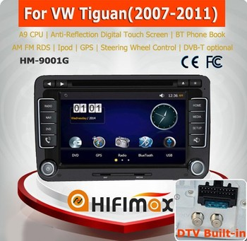 HIFIMAX A9 Chipset car dvd gps navigation for VW Tiguan navigation system car dvd player radio audio stereo video mp3 mp4 mp5