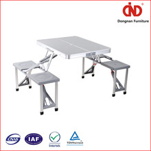 factory wholesales cheap china factory hot sales aluminum portable folding picnic table and chair set