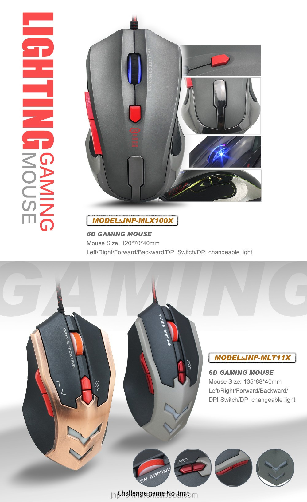 Avago 3050 6d Gaming Mouse Wired Ergonomic Optical Mouse Made In ...