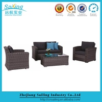 Factory wholesale outdoor cheap synthetic rattan cheap modern sofas