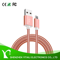 For iphone and Android high speed Metal soft Hose Spring USB Data charging cable