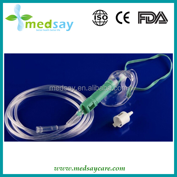 with water cup medical disposable Density adjustable oxygen mask