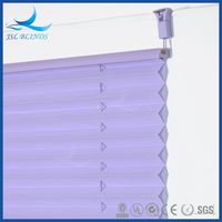 Guangzhou wholesale budget cordless pleated blinds for coffee house