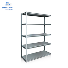 Hotsale light duty rack cheap durable 5 tiers warehouse rack storage luggage small <strong>shelf</strong>