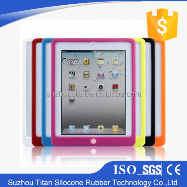 New Unique Pure Color Gel Table Silicone Case Minion Case for Ipad 2 3 4