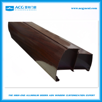 6063 t5 Electrophoresis painting thermal break aluminium profile for window and door China manufacturer