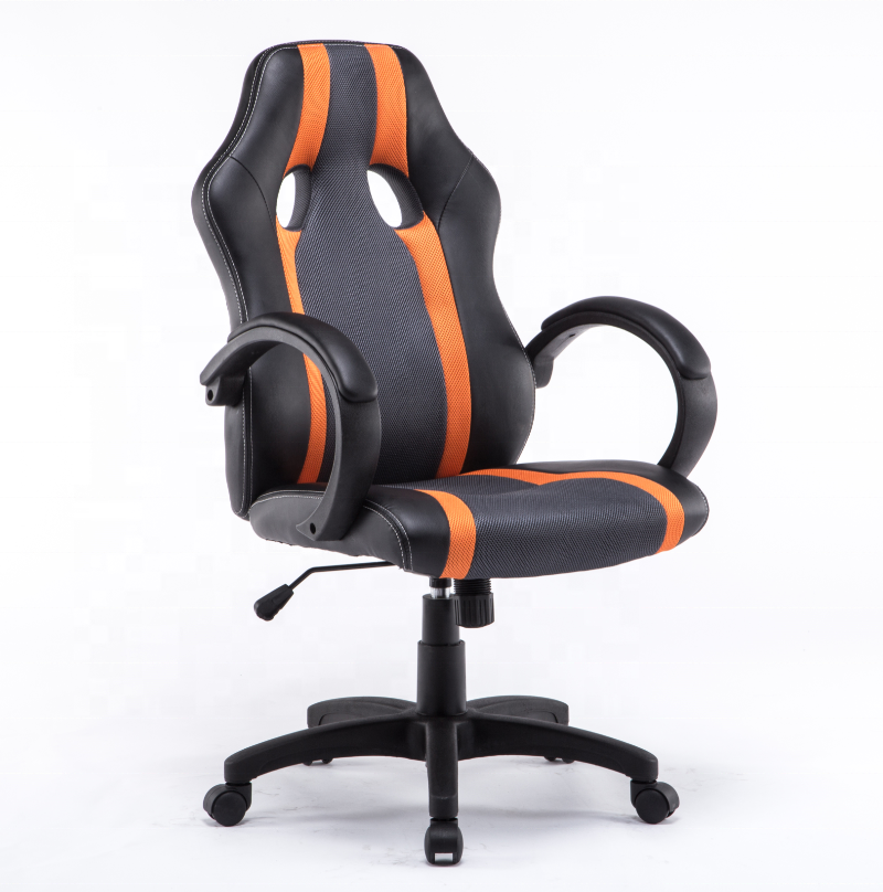 High back car seat modern design PU with mesh racing style computer gaming ergonomic executive office chair for gamer