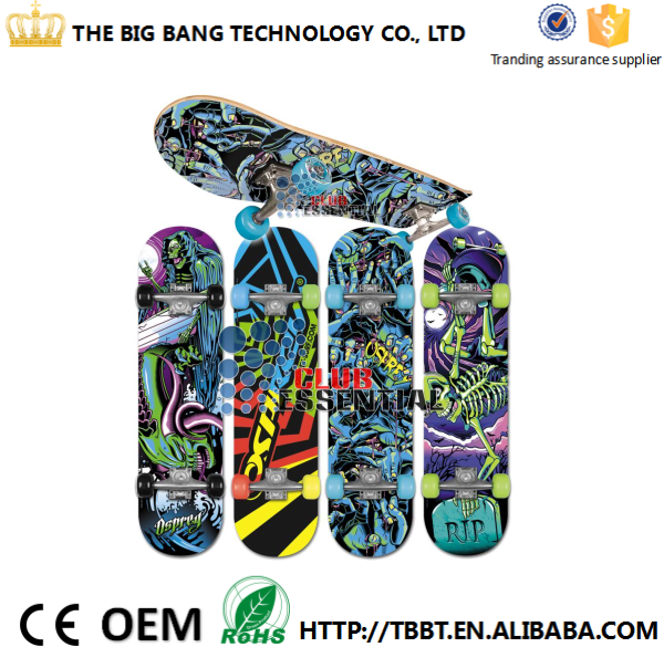 Large in-stock promotion price professional various colors wood fingerboard deck Canadian maple wood skateboard sale