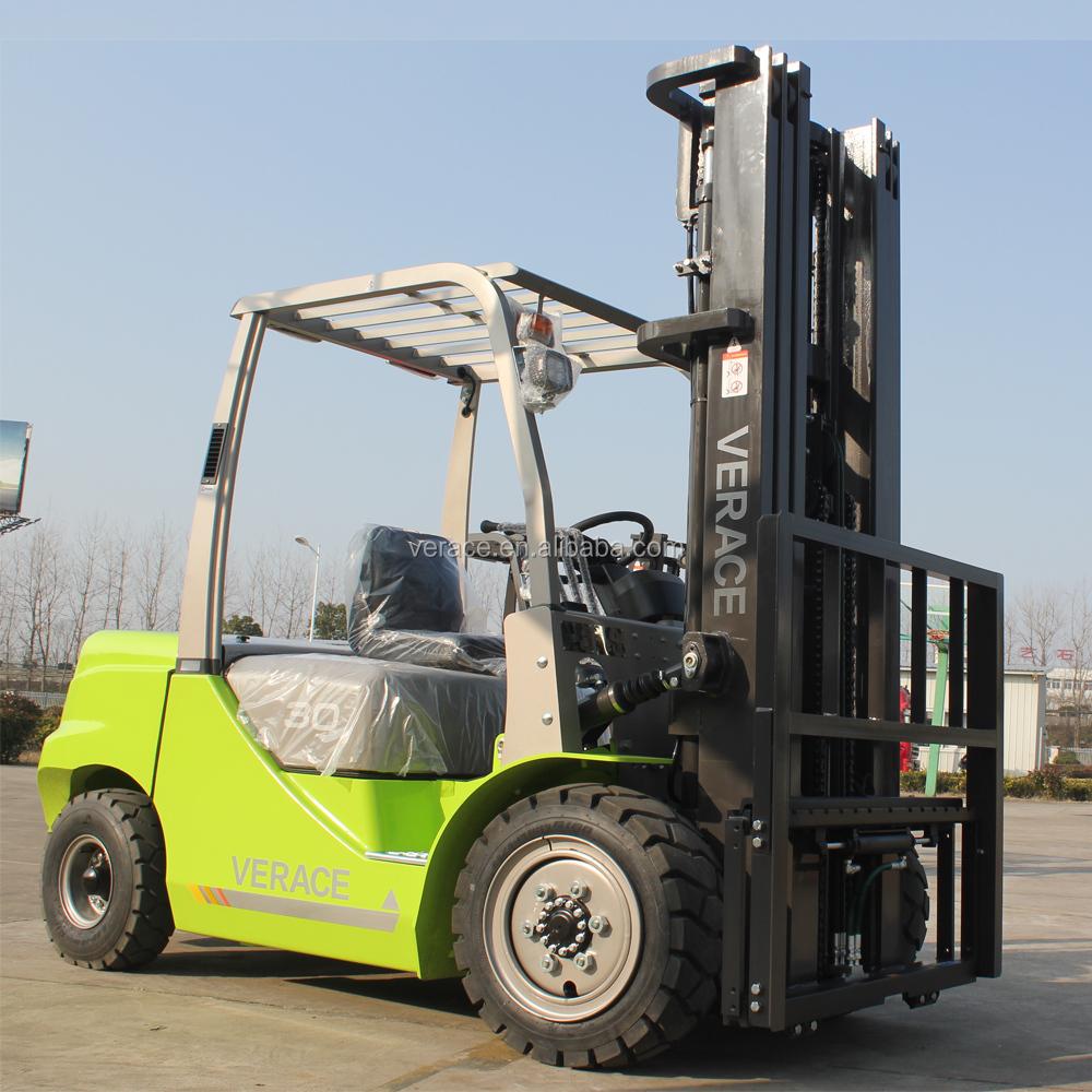 FD30 hecho en China partes 3 toneladas 4 m triple marco carretilla ...