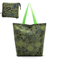 Promotional Fashion Cheap 420D Nylon Folding Shopper Bag
