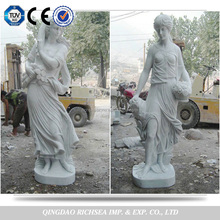 Life Size White Marble Angel Statue