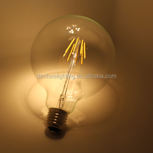E27 B22 G40 g125 COB colorful red green blue edison light led filament bulb 10w