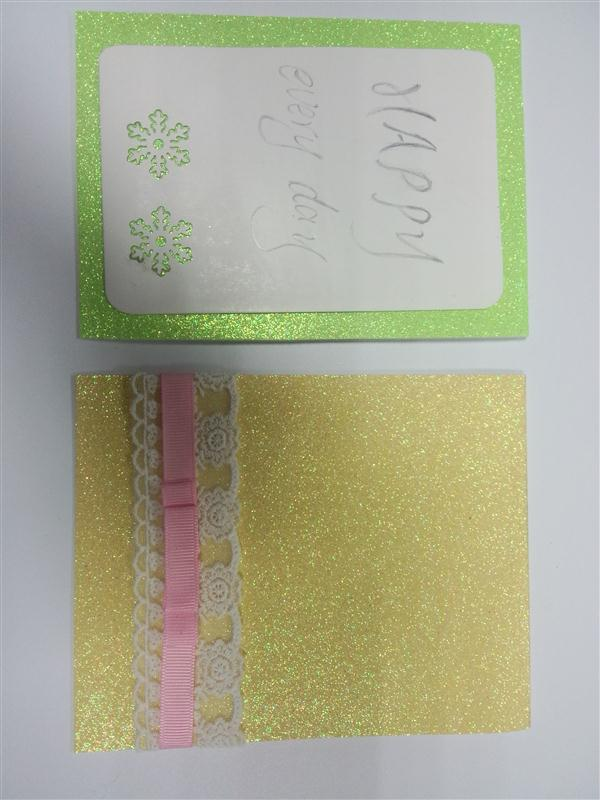Glittered non-woven fabrics floral wrapping paper sheet