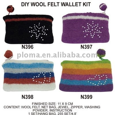 N396-N399 DIY WOOL FELT WALLET KIT