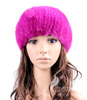 CX-C-128F Funny Knitted Fashion Lady Korean Mink Fur Winter Hat