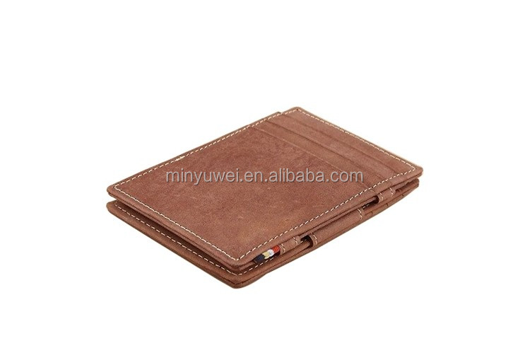 Handcrafted matt genuine leather wallet full leather magic wallet
