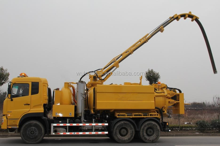 Heavy combination vacuum jetting truck,high pressure cleaning and vacuum suction