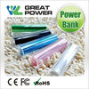Excellent quality latest portable 2800mah lipstick power bank