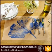 waterproof Guangzhou silicone chilewich custom pvc placemat pattern table cloth