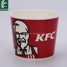 KFC fried chiken paper french fries bucket hot sale! Disposable paper cup