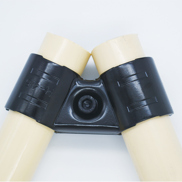 Plastic coated steel pipe for pipe shelf system