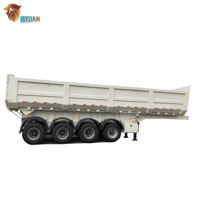 3 <strong>axles</strong> 40cubic Hydraulic Cylinder <strong>rear</strong> dump tipper truck trailer for sale