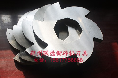 with red or grey color Low-speed Two Shafts Large Hard Plastic Shredder