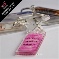 Daily promotional gifts Plastic keychains print / keychains comics for Kids