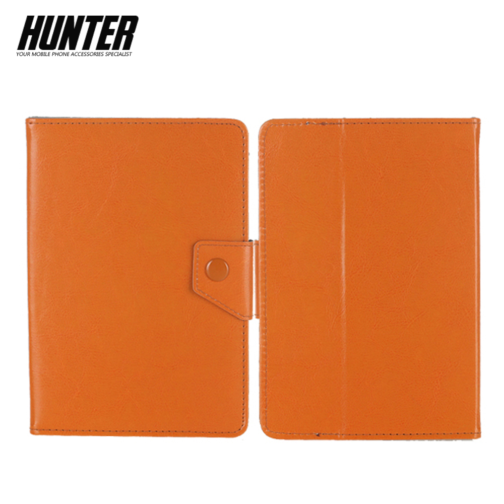Orange Leather Tablet Case For 7-8 Inch