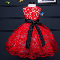 wholesale flower girl dress for girl Children Long Frocks Designs kid baby red ball gown