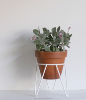 Indoor outdoor garden metal wire flower pot plant stand