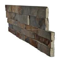 rusty yellow cheap interior exterior use cultured stone panel slate stacked stone slate stepping ledge stone