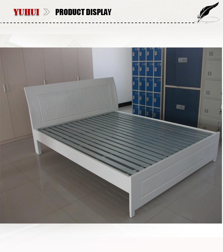 Steel super single bed frame metal queen size bed design for Queen size bed frames for sale