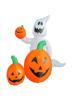 120cm/4ft inflatable white ghost and three pumpkins for halloween decoration,one of them is held by the ghost