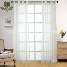 Competitive Price 100% Polyester Curtain With Silver Thread