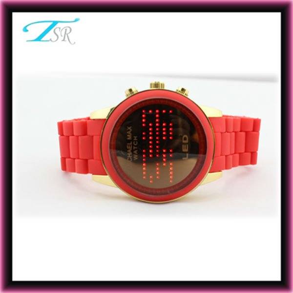 Western watches popular in Europe and with flashing red digit