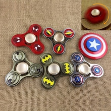 2017 Fidget Tri spinner Captain America Metalc Stress Finger Spiner Aluminium Hand Toys Stress Colorful electric hand