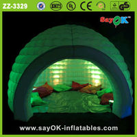 green decoration lighting inflatable igloo tent,inflatable event tent