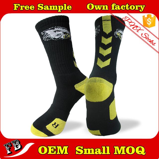 Custom elite men's sport running socks terry socks
