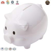 custom made vinyl money box pig shape coin bank ICTI ,ISO ,BV certificates
