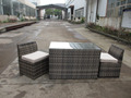 outdoor furniture for wide rattan balcony set
