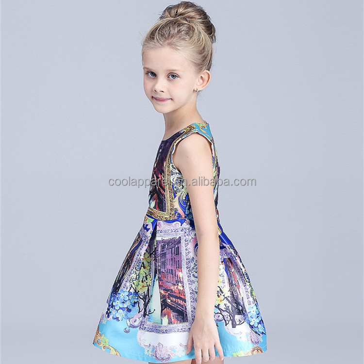 new fashion tailand girl boutique causal dress latest skirt design pictures in kids wear