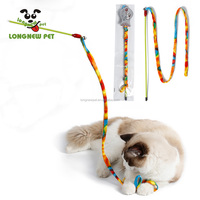 Cat Teaser With Bell Funny Soft Cloth Wand Toy For Cats Interactive Cat Wand